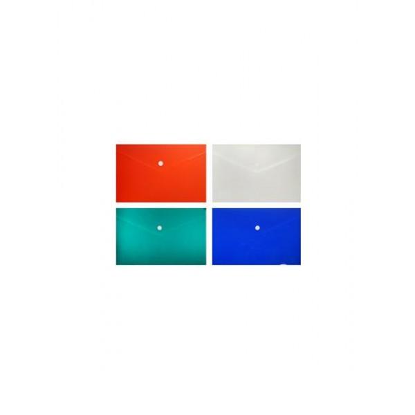 Папка-конверт с кнопкой 340х240мм А4