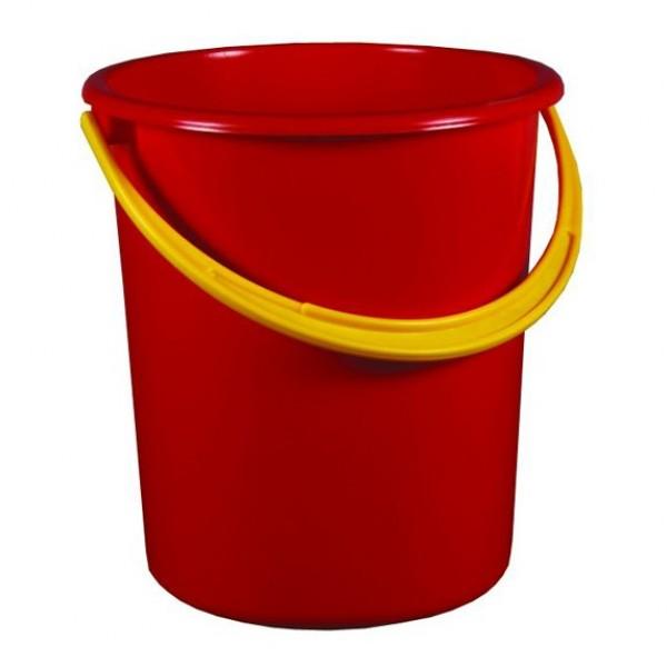 Ведро 12л для пищевых продуктов (красный)