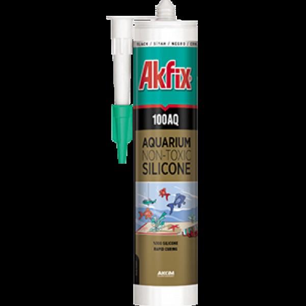 """Герметик """"AKFIX"""" для аквариумный 280мл прозрачный Турция"""