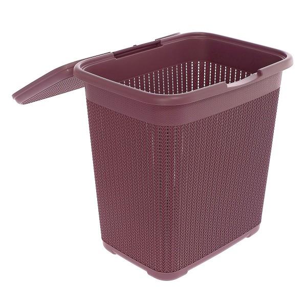 Корзинка для белья ВЯЗАНИЕ 40л (пурпурный)
