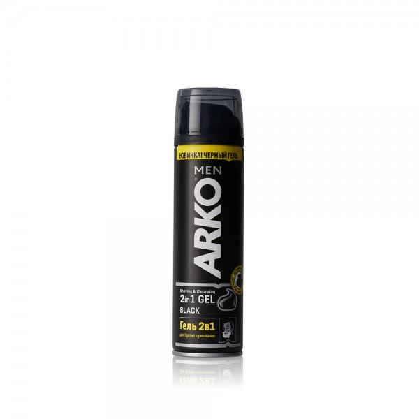 Гель для бритья Арко 200мл 2в1 блак