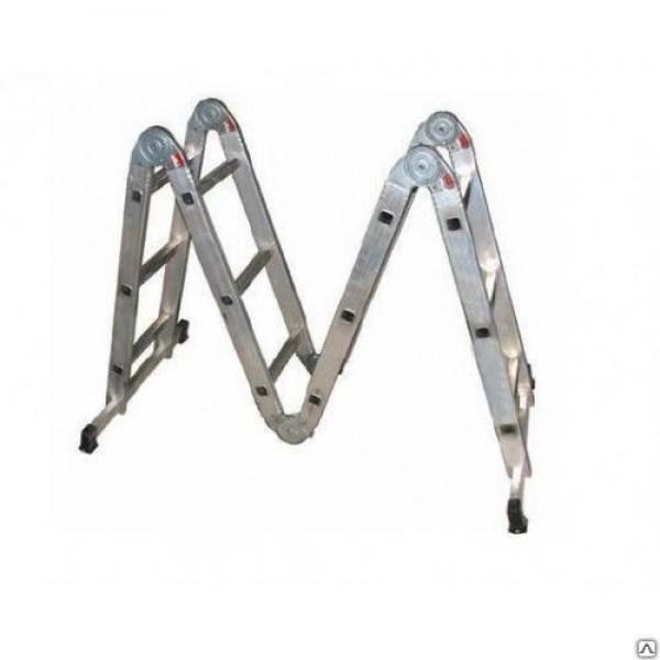 Лестница трансформер 4*3 (4 секц. 3 ст.) длина собр.101см, общ.длина370см,вес11,5кг SPETSTEXNIK /1/1