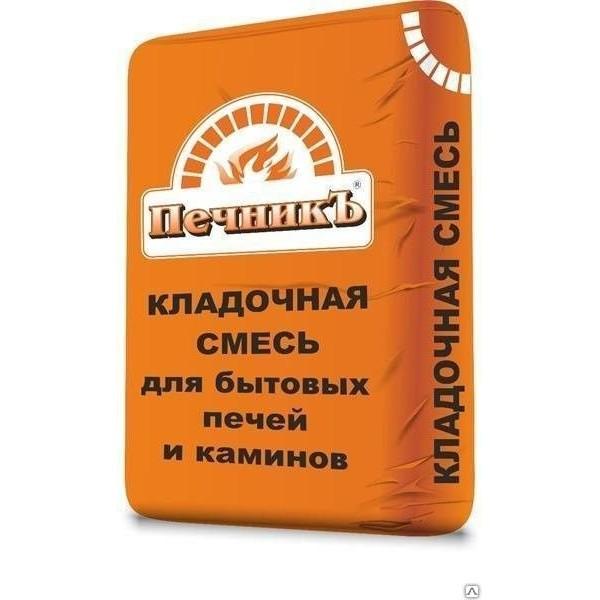 Кладочный состав для кладки печей и каминов Печникъ 18кг (шамотная смесь)