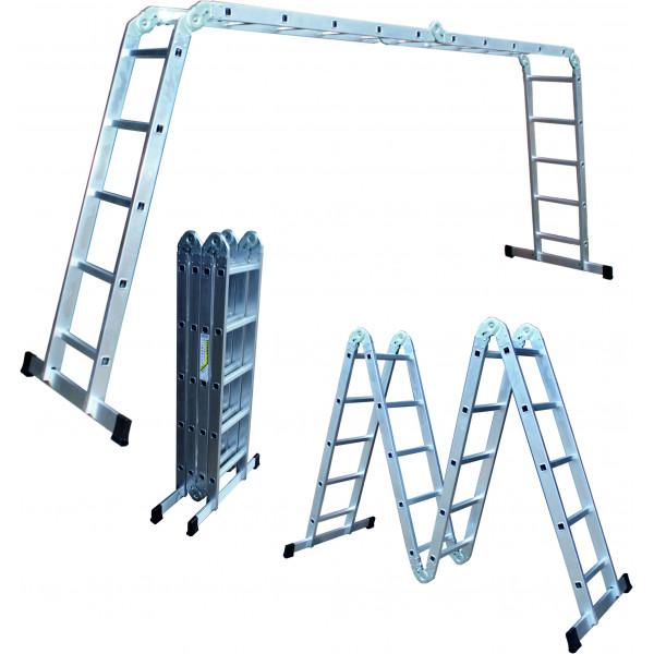 Лестница трансформер 4*6 (4 секц. 6 ст.) длина собр.170см, общ.длина680см,вес15кг SPETSTEXNIK /1/1