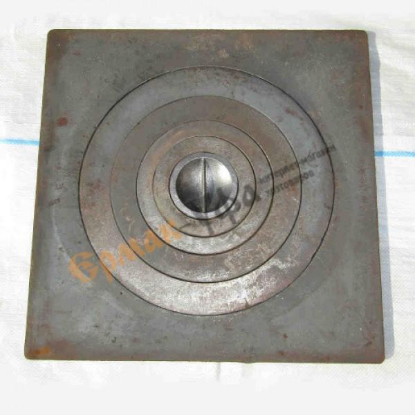 Печное литье плита 1 конфорка П 1-6 (600х600)