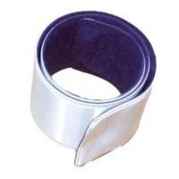 Браслет-липучка светоотражающий 3х40см Серебро
