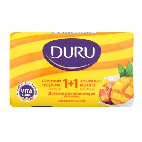 Мыло ДУРУ крем-мыло 1+1 80гр Персик+манго