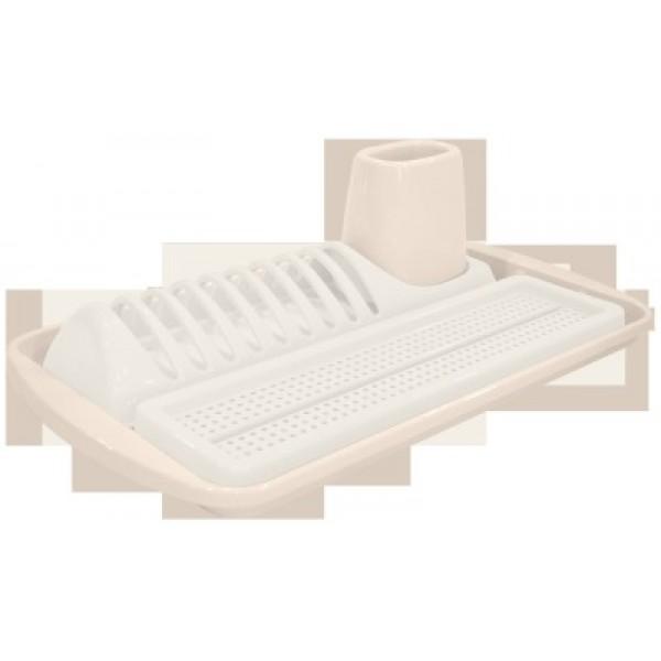 Сушила д/посуды с сушилкой д/стол.приборов сливочный крем