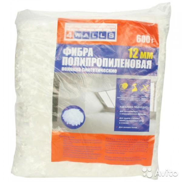 Фибра полипропиленовая р-р 12мм 600гр