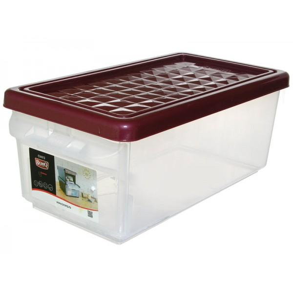 Ящик для хранения с боковой дверцей 12л бордовый
