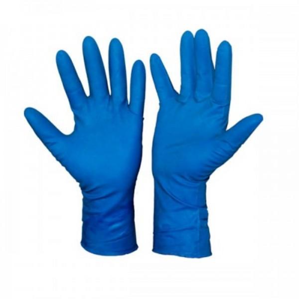 Перчатки резин.синие глобус L(1уп-25пар)
