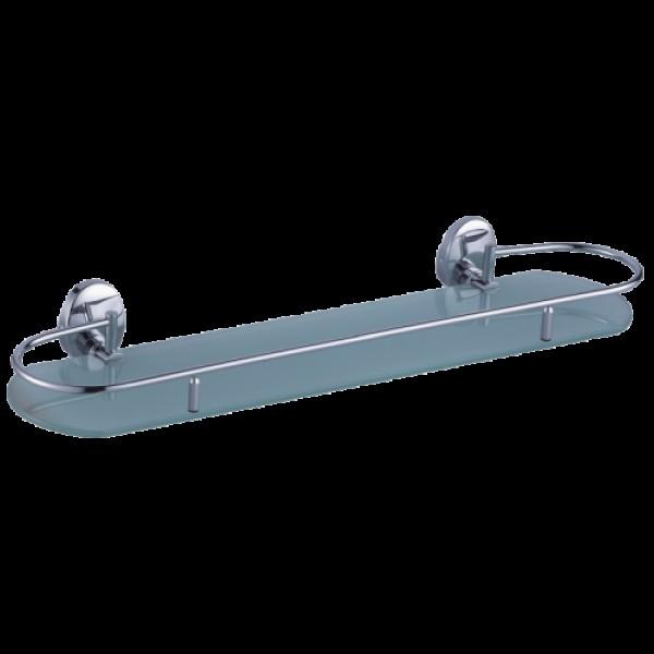 Полка для ванной стекл.SOLLINE 16181 хром стекло-сатин