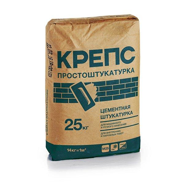 КРЕПС Простоштукатурка цементн.д/маш и ручж.нанесения 25кг