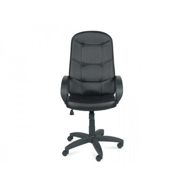 Кресло офисное Квест  кож/зам.чёрн