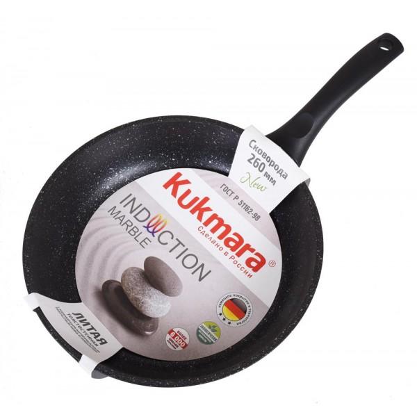 Сковорода 240/60 темный мрамор индкуц