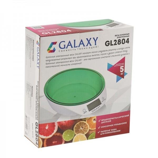 Весы кухонные электронные Galaxy GL 2804 5 кг,ЖК-дисплей,ф-ия обнуления,автом.отключ,инд.перегрузки