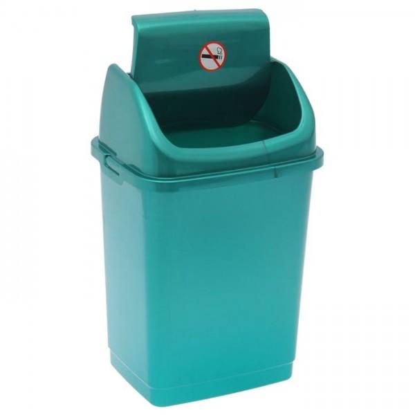 Ведро д/мусора 4л Камелия бирюзовый перламутр