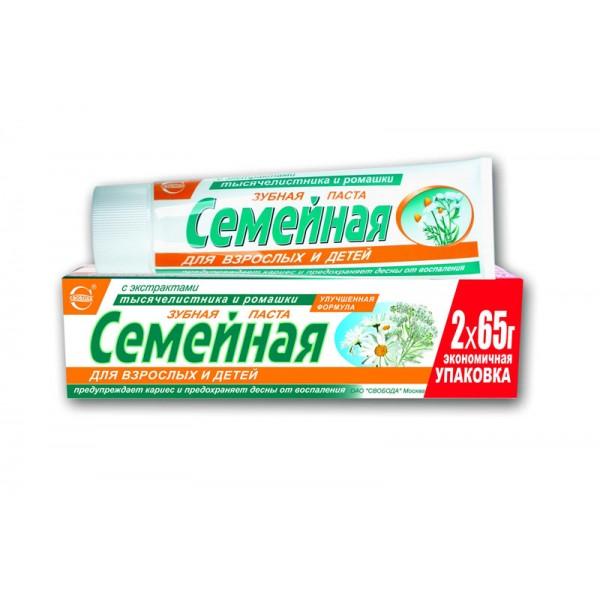 Зубная паста Свобода Семейная 130гр тысячел. и ромашка