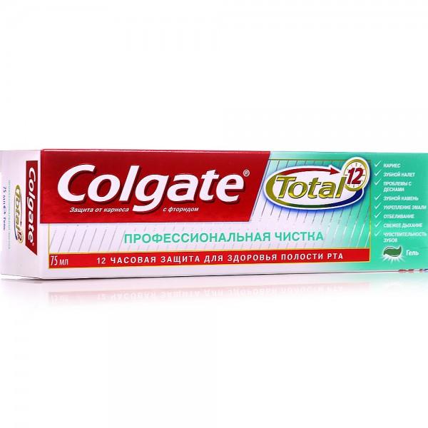 Зубная паста Колгейт 75мл Тотал 12 проф чистка гель