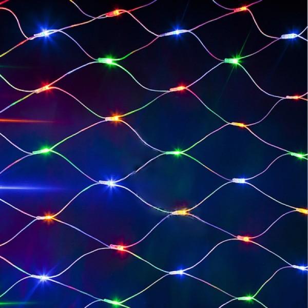 Гирлянда Сеть светодиод. 160 LED, 1,5х1,5м прозр.пров., белый
