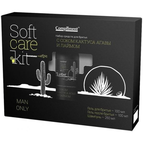 Набор Compliment Soft Care Kit.Man Onlu(Гель для бритья, гель после бритья шампунь)