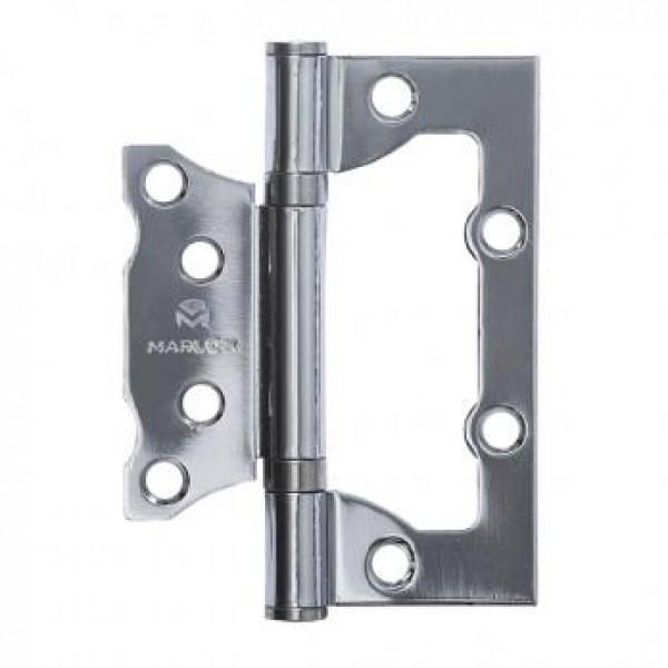 Петля дверная ПНУ-2п 100х75х2,0мм, без врезки, с крепежом, цвет AB-бронза (цена за1шт)