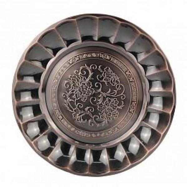 Поднос круглый 30см бронза, жс12472