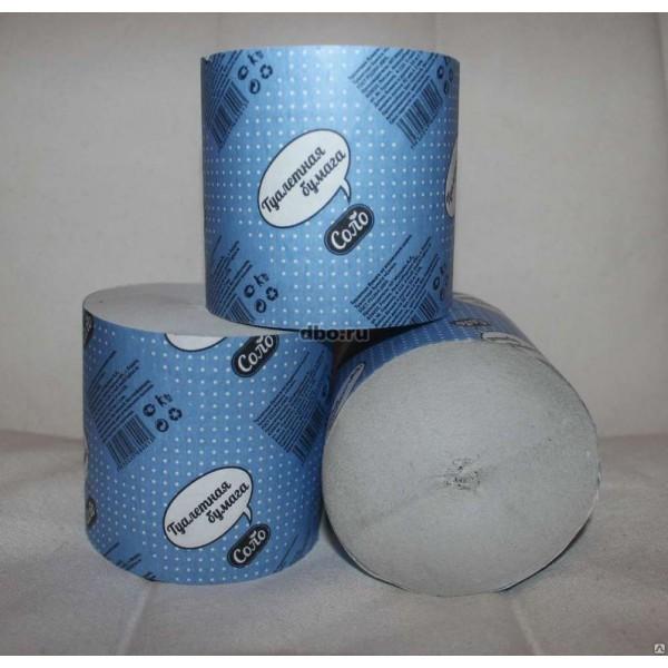 Туалетная бумага SOLO 35м 1уп-48шт