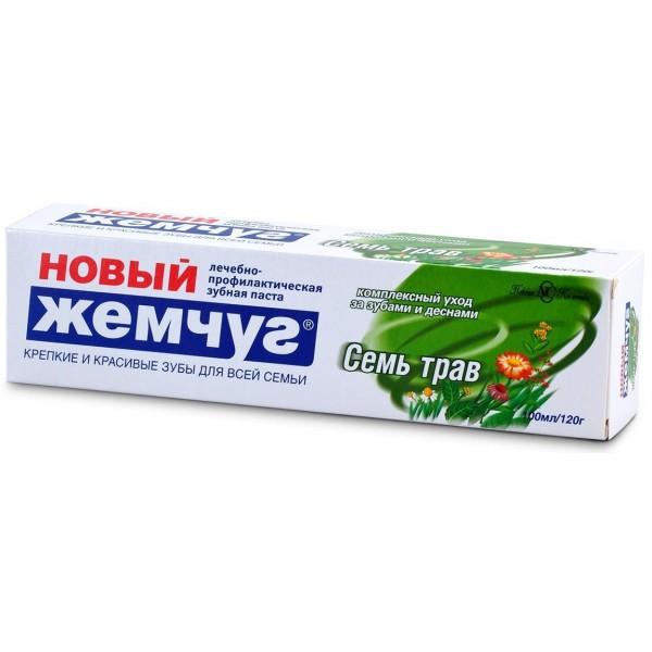 Зубная паста Новый Жемчуг Семь трав 100мл