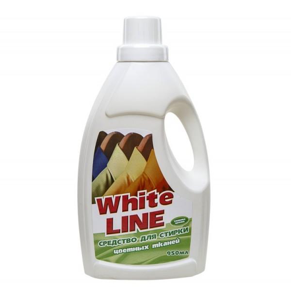 Жидкое ср-во для стирки цветных тканей. WHITE LINE 950мл