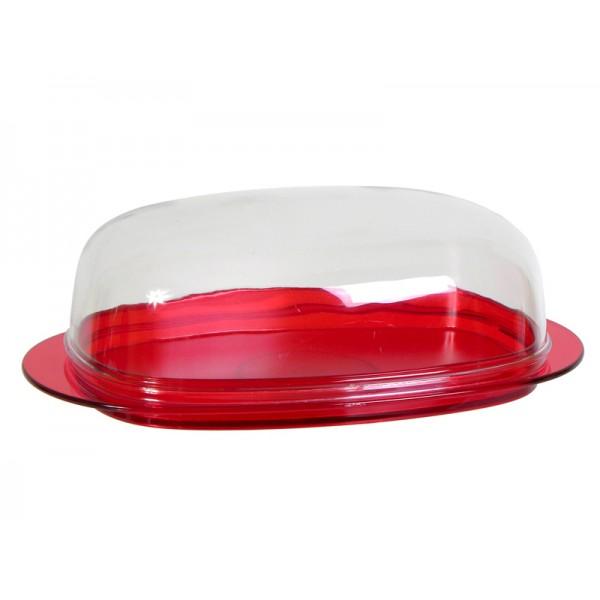 Масленка Кристал красный прозрачный