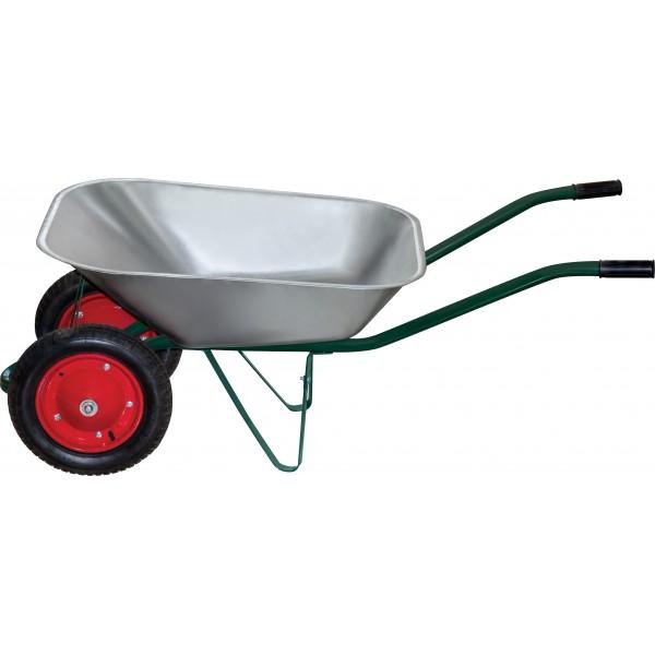 Тачка садовая 2 х-колесная WB 4107-2, кузов 65л/150кг, толщ.0,6мм, вес 11,22кг PARK 1/2