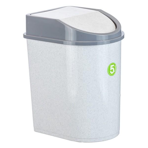 Контейнер для мусора 8л (мраморный)