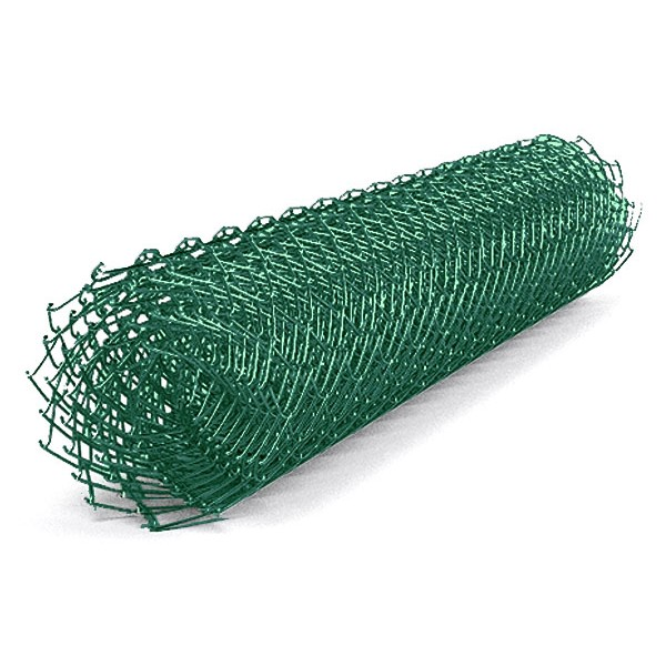 сетка рабица 50х50х2,5 (1.5х10) с полимерн. покр. зеленая