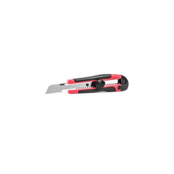 Нож строительный 18мм метал/направляющ, обрез/корпус, быстросъемное лезвие (3шт) SPARK LUX