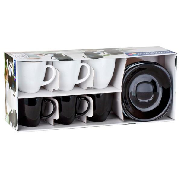 Чайный набор КАРИН черно-белый 220мл LUMINARC (D2371)