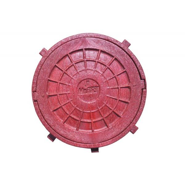 Люк канализ.(красный) полимерный 25т