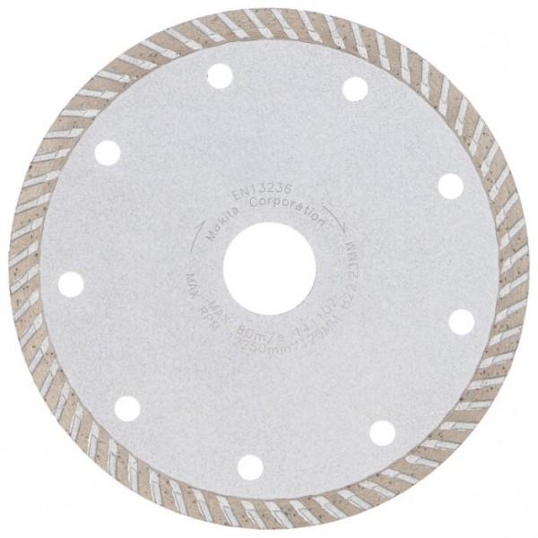 Диск алмазный 125х22,2мм сплошной Turbo OXCRAFT