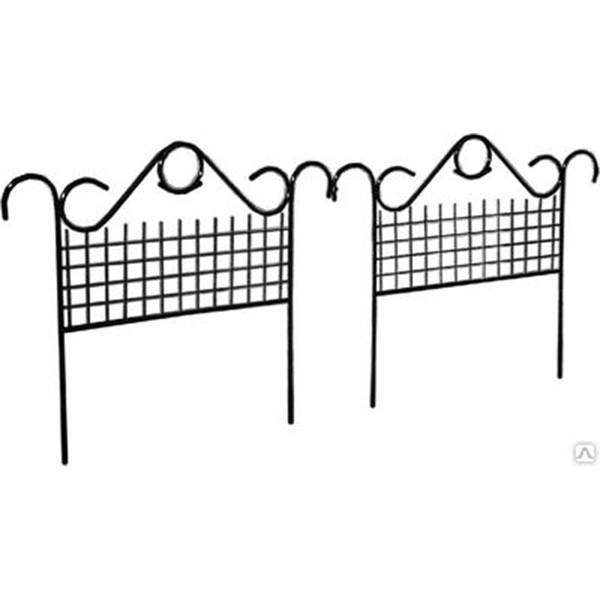 """Заборчик садовый """"Комбинированный"""" 0,9*0,9 5шт труба 10мм"""
