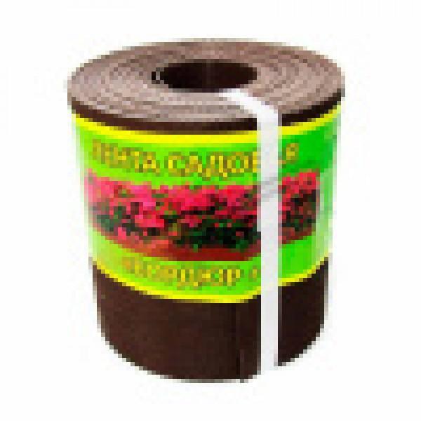 Бордюрная лента для грядок H-0,15 м L-10м (1,2мм) коричневая