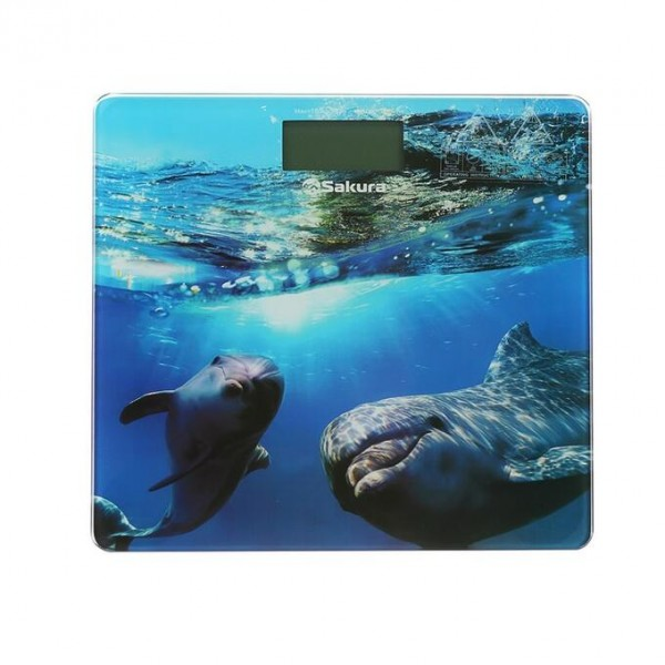 Весы напольные SAKURA SA-5065DL ultraslim 150кг элек дельфины