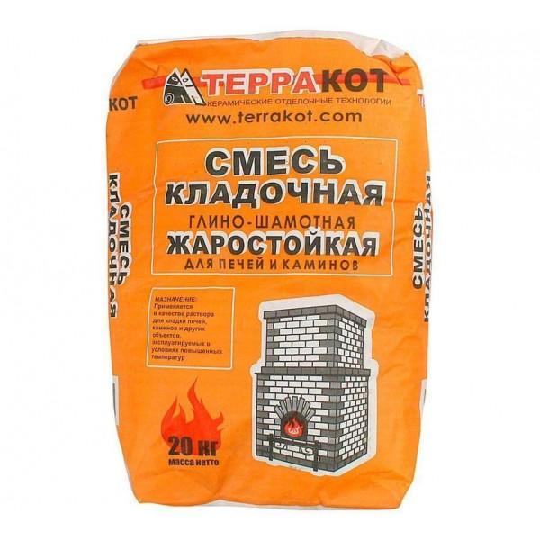 ТЕРРАКОТ Кладочная печная смесь глно-шамотная 20кг