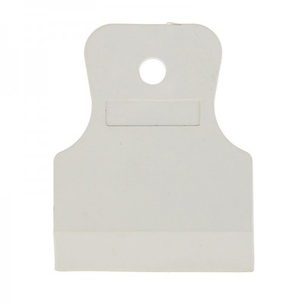 Шпатель резиновый белый 80мм БИБЕР 35267