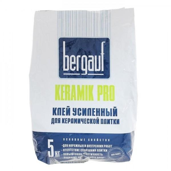 БЕРГАУФ КЕРАМИК ПРО Клей плиточный усиленный серый 5кг