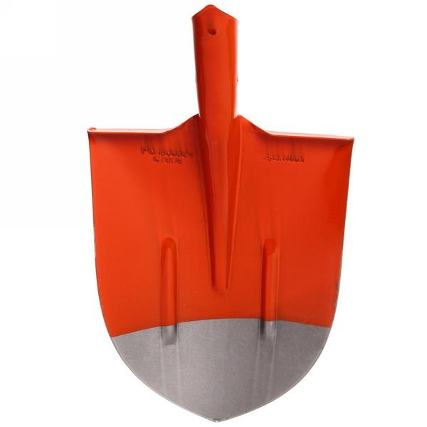 Лопата совковая оранжево-черная  рельс/сталь с реб/жестк S-2