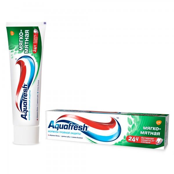 Зубная паста Аквафреш 3+ мягко-мятная 50мл