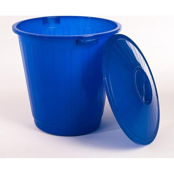 Бак 80л с крышкой и ручками (синий)