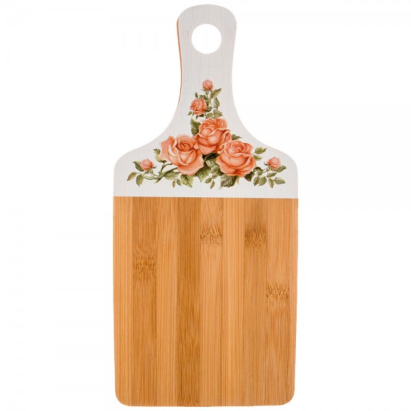Доска разделочная 35*16*0,9см бамбук Корейская роза
