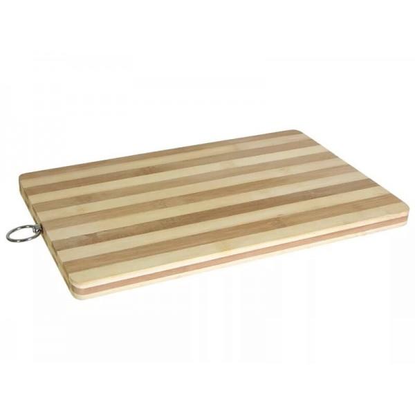 Доска разделочная 22*32*1,3см бамбук полоска 62124