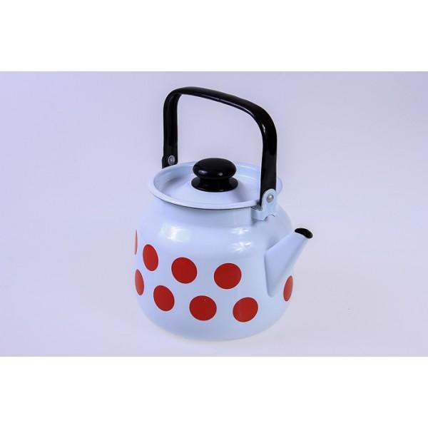 Чайник 3,5л Горох красный С-2713П2/4Рч